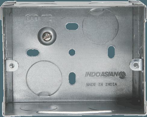 800173 - METAL FLUSH BOX 3 MODULE