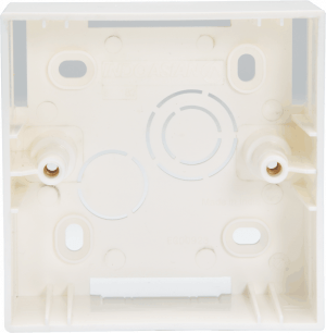 800182 300x306 - PLASTIC SURFACE BOX 1/2 MODULE