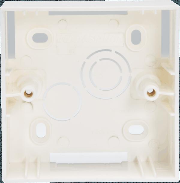 800182 600x612 - PLASTIC SURFACE BOX 1/2 MODULE