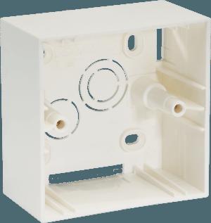 800182 c - PLASTIC SURFACE BOX 1/2 MODULE