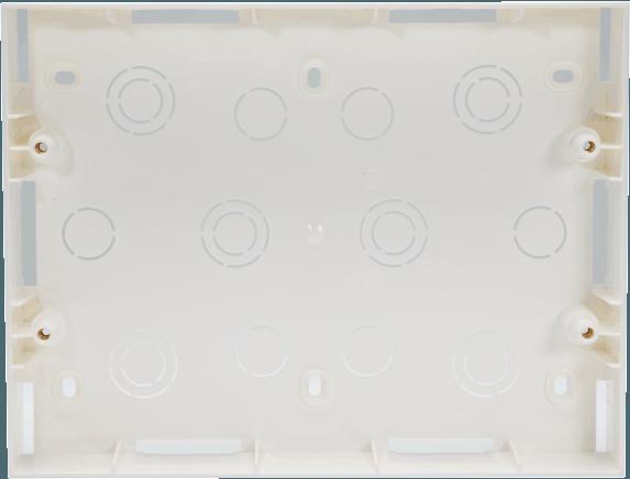 800185 - PLASTIC SURFACE BOX 12 MODULE