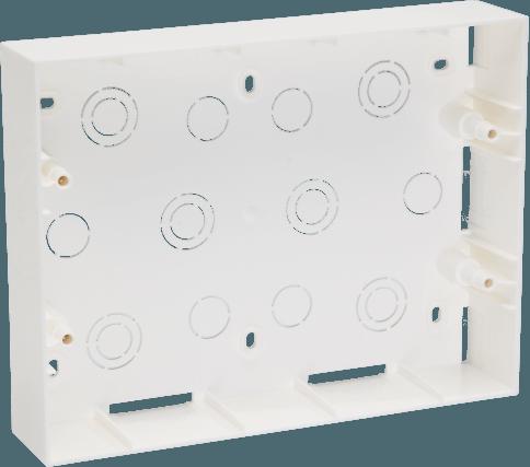 800185 c - PLASTIC SURFACE BOX 12 MODULE