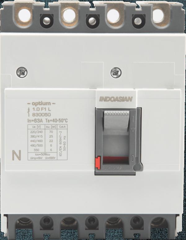 80A 4P 25KA TM Optium 1.0 Fixed F1 MCCB