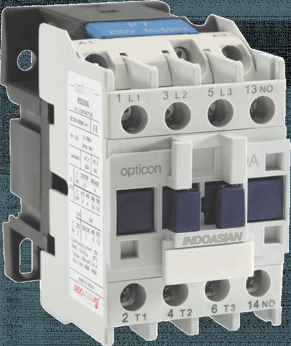 850016 600x714 - 12A 3POLE 230V AC Contactor 1 NO