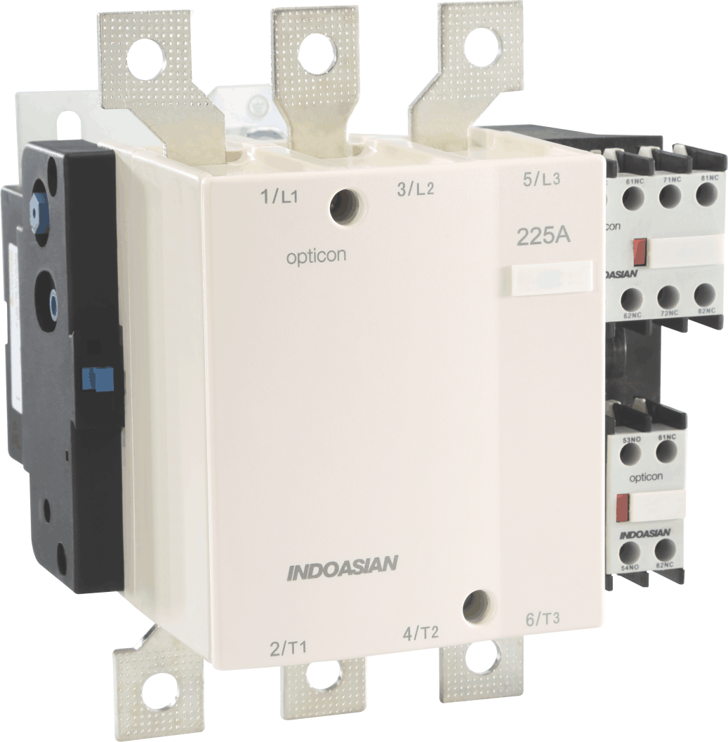 265A 3POLE 24V AC Contactor 2 NO + 2 NC - Indoasian